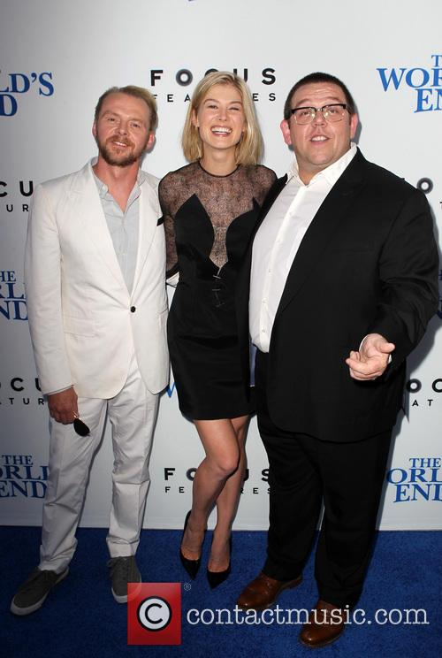 Simon Pegg, Rosamund Pike and Nick Frost 1
