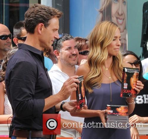 tony goldwyn maria menounos celebrities at the grove 3830605
