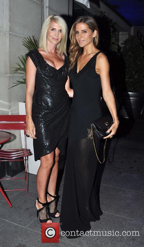 Yvonne Keating and Amamda Byram outside Morgan Hotel