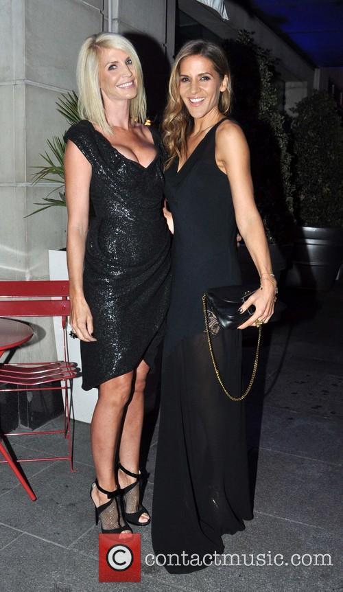 Yvonne Keating and Amamda Byram outside Morgan Hotel