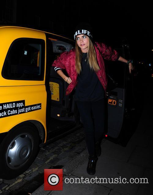 Cara Delevingne Leaves Yellow London Cab