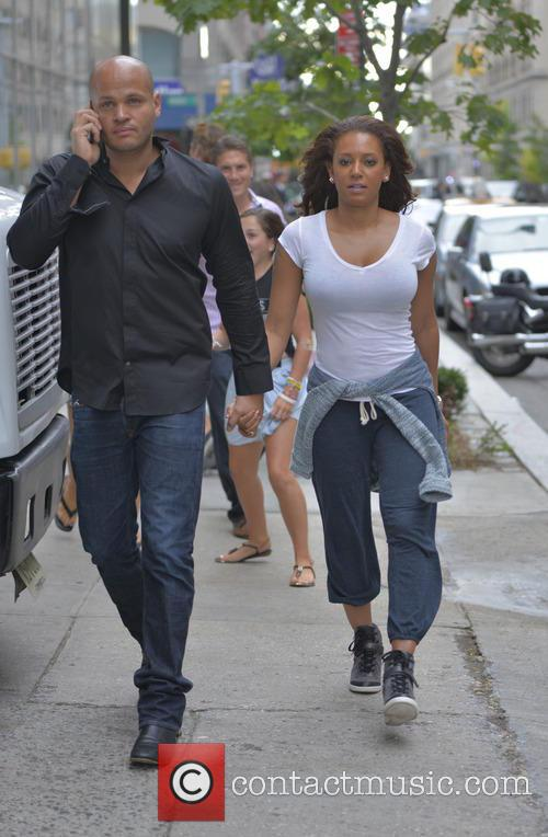 Mel B and Stephen Belafonte out and about...