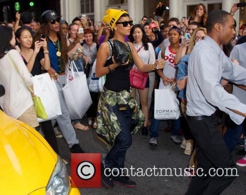 Rihanna seen in Soho New York City