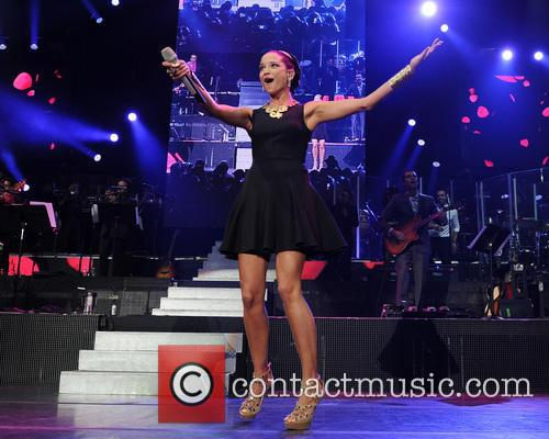 Marc Anthony  performs on opening night of...