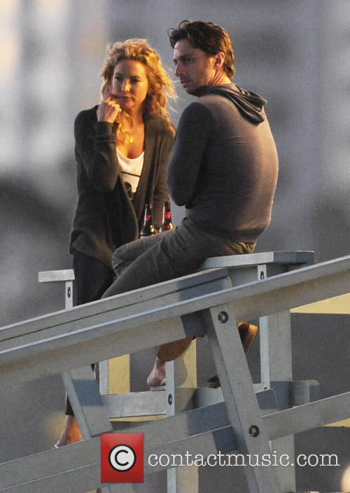Kate Hudson and Zach Braff on set of 'Wish I Was Here'