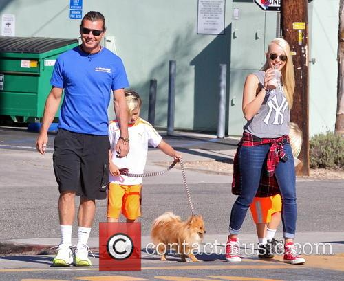 Gavin Rossdale, Kingston Rossdale and Zuma Rossdale 2