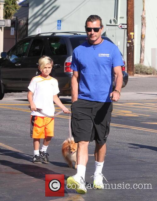 Gavin Rossdale, Kingston Rossdale and Zuma Rossdale 1