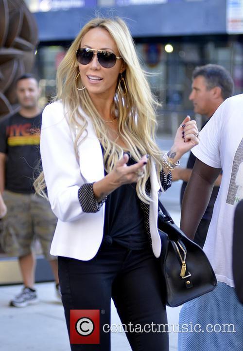 Tish Cyrus leaving her Manhattan hotel