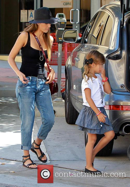 Jessica Alba shops in West Hollywood