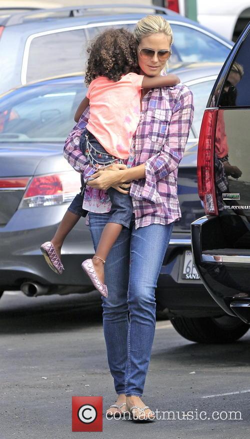 Heidi Klum & family shopping at the Local...