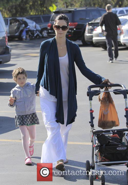 Carrie-Anne Moss heading to the local Farmers Market