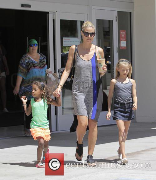 Heidi Klum shopping around Westwood