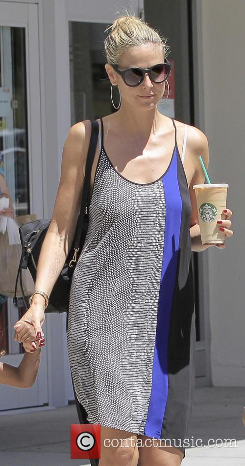 Heidi Klum shopping around Westwood