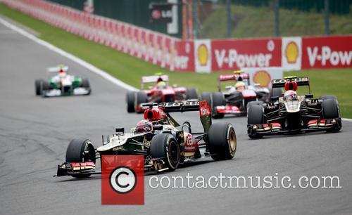 Kimi RÄikkÖnen and Romain Grosjean 1