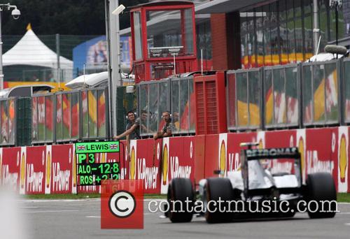 Lewis Hamilton and Mercedesgp 5