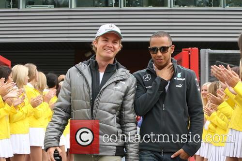 Nico Rosberg, Lewis Hamilton and Mercedesgp 1