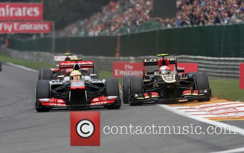 Sergio Perez, Mclaren Vs Romain Grosjean and Lotus - 3