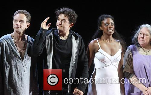 Brent Carver, Orlando Bloom, Condola Rashad and Jayne Houdyshell 3