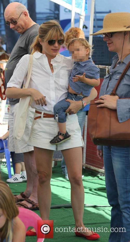Selma Blair visits the Studio City Farmers Market