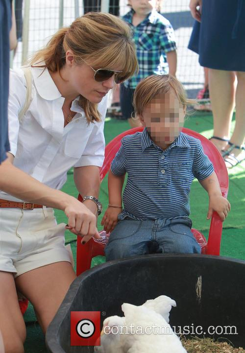 Selma Blair takes her young son Aruther to...