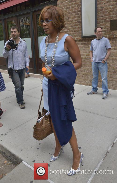 Gayle King seen out and about