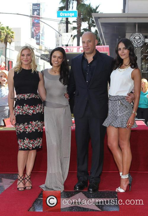 Katee Sackhoff, Michelle Rodriguez, Vin Diesel and Jordana Brewster 3