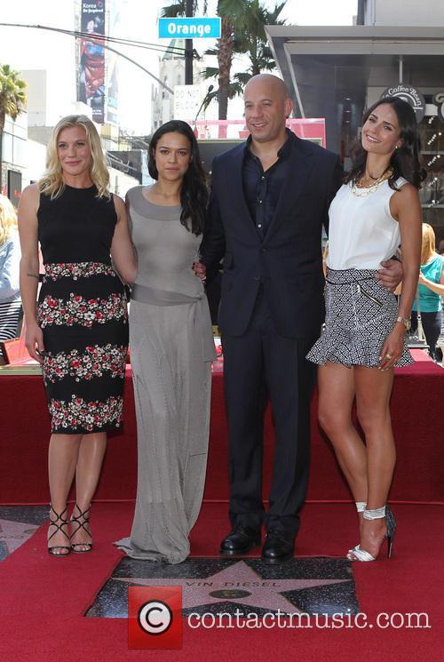 Katee Sackhoff, Michelle Rodriguez, Vin Diesel and Jordana Brewster 5