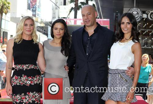 Katee Sackhoff, Michelle Rodriguez, Vin Diesel and Jordana Brewster 10