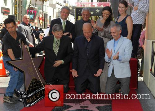 Leron Gubler, Vin Diesel, L.a. Councilman Mitch O'farrell, Ron Meyer and Michelle Rodriguez 2