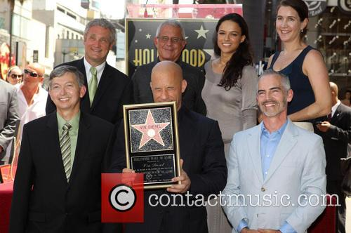 Leron Gubler, Vin Diesel, L.a. Councilman Mitch O'farrell, Ron Meyer and Michelle Rodriguez 3