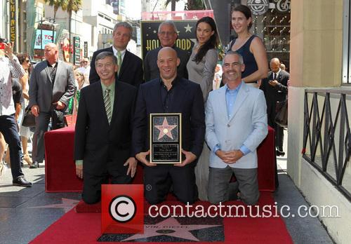 Leron Gubler, Vin Diesel, L.a. Councilman Mitch O'farrell, Ron Meyer and Michelle Rodriguez 4