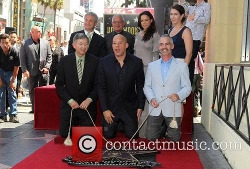 Leron Gubler, Vin Diesel, L.a. Councilman Mitch O'farrell, Ron Meyer and Michelle Rodriguez 6