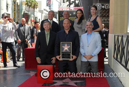 Leron Gubler, Vin Diesel, L.a. Councilman Mitch O'farrell, Ron Meyer and Michelle Rodriguez 7