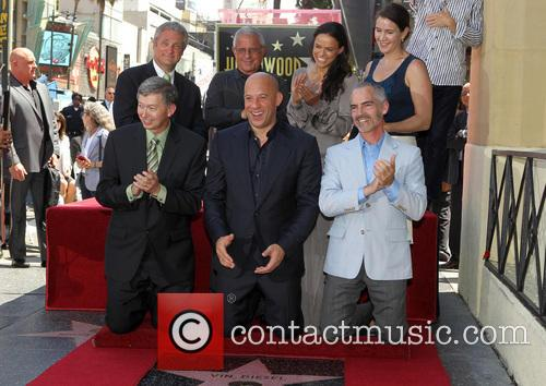 Leron Gubler, Vin Diesel, L.a. Councilman Mitch O'farrell, Ron Meyer and Michelle Rodriguez 8