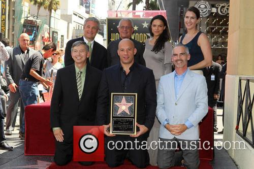 Leron Gubler, Vin Diesel, L.a. Councilman Mitch O'farrell, Ron Meyer and Michelle Rodriguez 9
