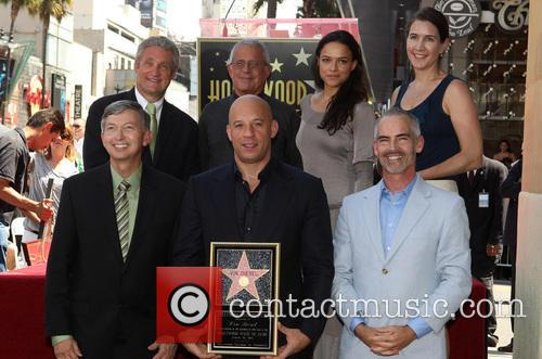 Leron Gubler, Vin Diesel, L.a. Councilman Mitch O'farrell, Ron Meyer and Michelle Rodriguez 1