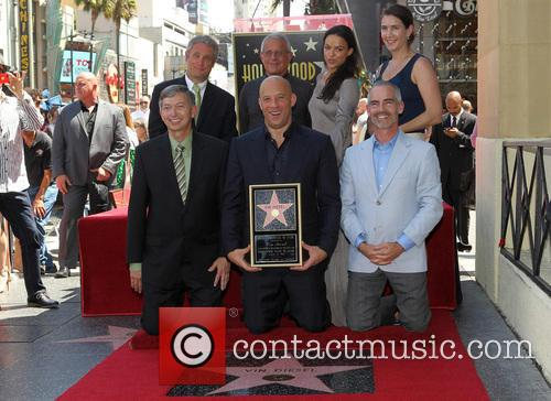 Leron Gubler, Vin Diesel, L.a. Councilman Mitch O'farrell, Ron Meyer and Michelle Rodriguez 10