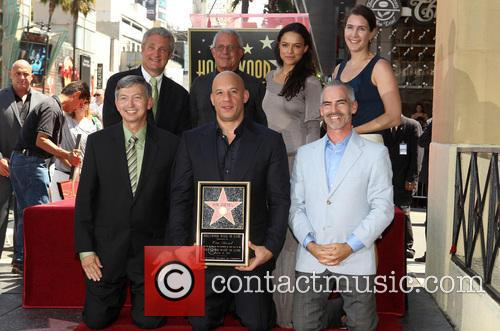 Leron Gubler, Vin Diesel, L.a. Councilman Mitch O'farrell, Ron Meyer and Michelle Rodriguez 11