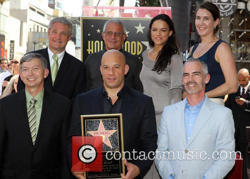Leron Gubler, Vin Diesel, L.A. Councilman Mitch O'Farrell, Ron Meyer, Michelle Rodriguez