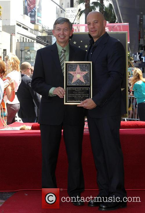 Diesel with Leon Gubler, recieving his star on the Hollywood Walk of Fame