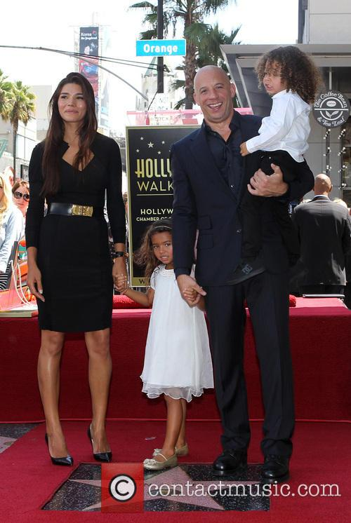 Paloma Jiménez, Hania Riley, Vin Diesel and And Son 3