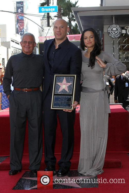 Ron Meyer, Vin Diesel and Michelle Rodriguez 1