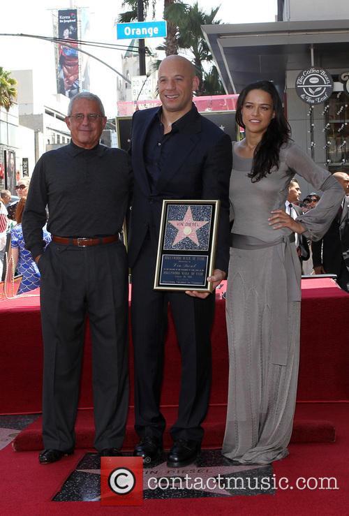 Ron Meyer, Vin Diesel and Michelle Rodriguez 2