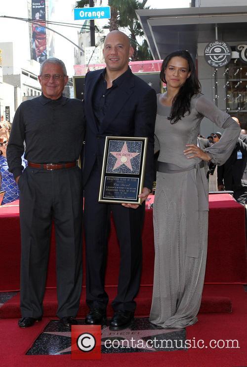 Ron Meyer, Vin Diesel and Michelle Rodriguez 3
