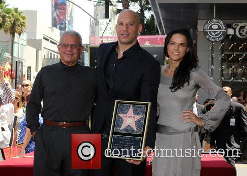 Ron Meyer, Vin Diesel and Michelle Rodriguez 5