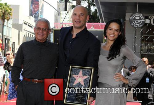 Ron Meyer, Vin Diesel and Michelle Rodriguez 7