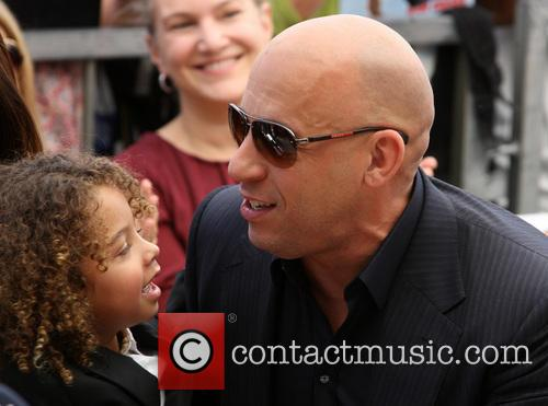 Vin Diesel, and son