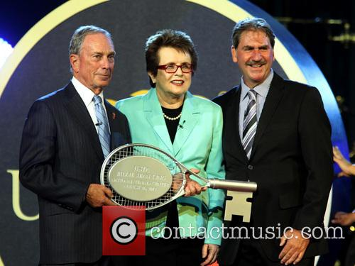 Michael Bloomberg, Billie Jean King and David Haggerty 1