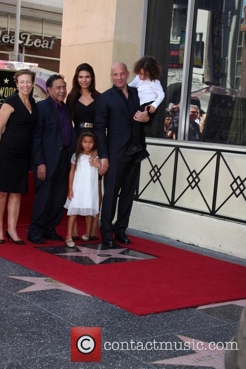 Paloma Jimenez, Hania Riley Diesel, Vin Diesel, Vincent Diesel, Mom and Stepdad 5