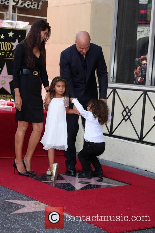 Paloma Jimenez, Hania Riley Diesel, Vin Diesel and Vincent Diesel 2